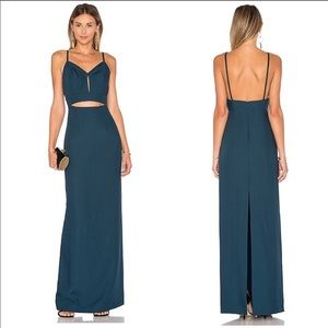 Lovers and friends revolve Gaia teal maxi